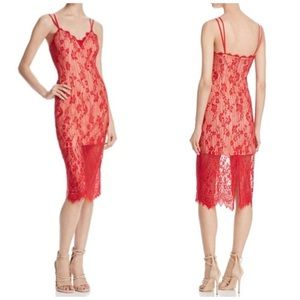 NWT Keepsake Love Affair Red Lace Dress